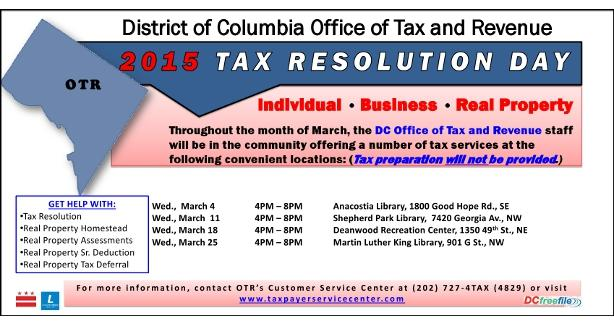 2015 Tax Resolution Day