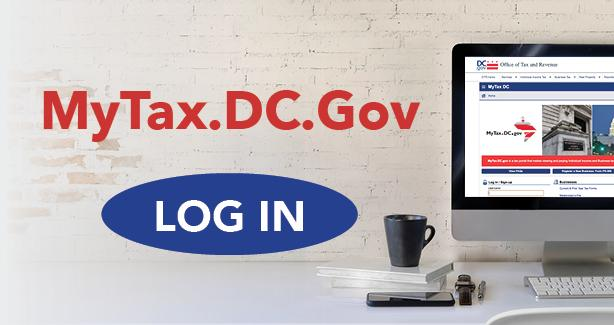 Image from MyTax.DC.gov