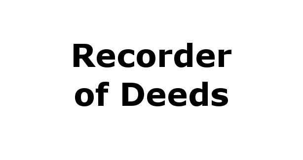 Recorder of Deeds
