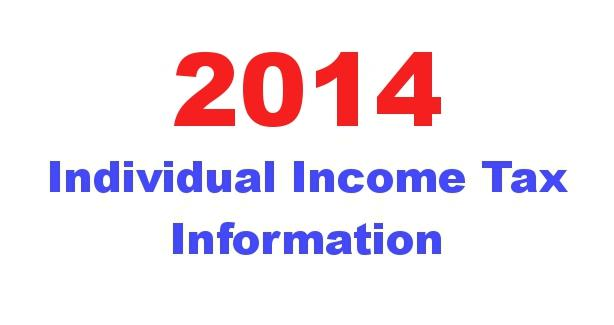 2014 Individual Income Tax Information image